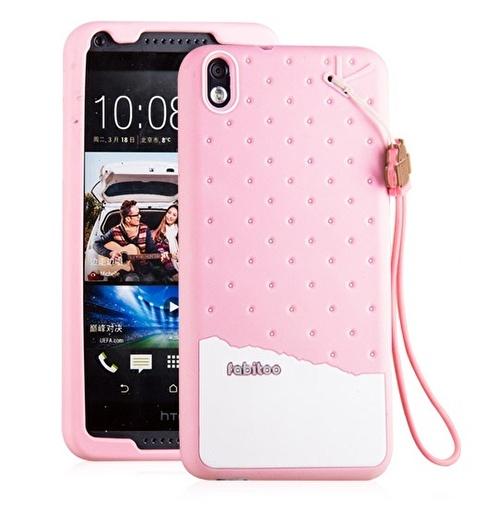 Fabitoo HTC Desire 816 Candy Kılıf  Pembe